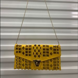 Yellow stylish purse